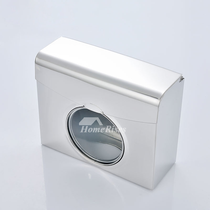 Commercial Toilet Paper Holders Wall Mount Square Shaped