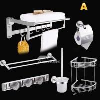Modern Bathroom Accessories 6-Piece Brushed Nickel