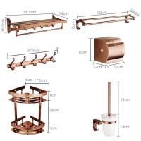 Rose Gold Aluminum Copper Bathroom Accessories Set