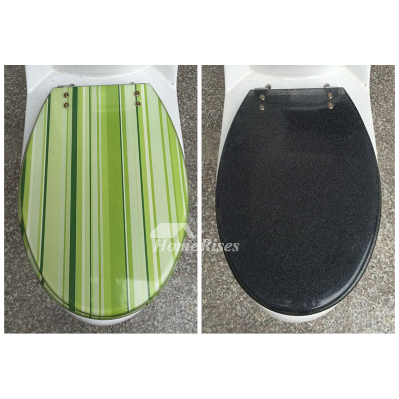 Wine 3d Wallpaper Striped Green Gray Yellow Colored Resin Toilet Seat Covers