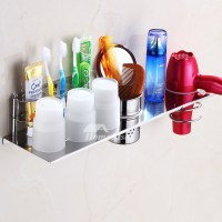Stainless Toothbrush Holder Wall Mount Silver Bathroom Modern