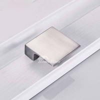 Modern Cabinet Pulls Brushed Chrome Drawer Silver Zinc Alloy