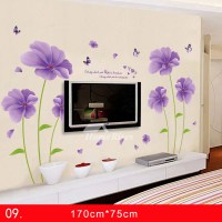 Wall Stickers For Bedrooms Flower PVC Large Bedroom Self ...