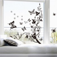Decorative Wall Stickers For Living Room Butterfly/Tree ...