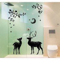 Girls Wall Stickers Animal/Deer/Furniture PVC Home Decor ...
