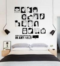 Cool Wall Stickers Black PVC Design Self Adhesive Living ...