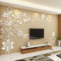 Beautiful Wall Mural Stickers 3D Acrylic Home Decor Living ...
