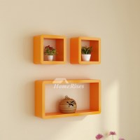 Modern Wall Shelves White/Pink/Blue Wooden Wall Mounted ...