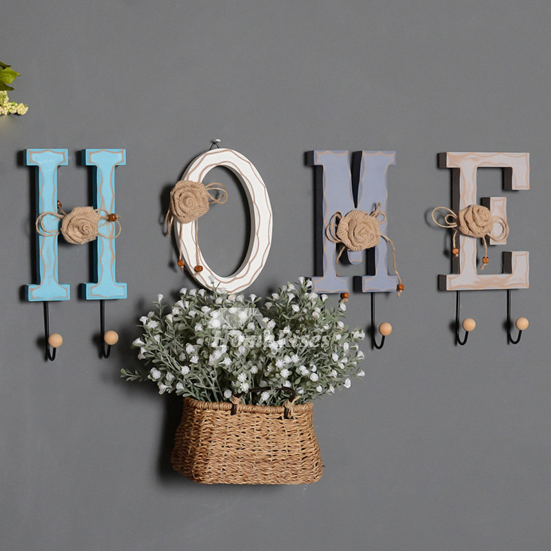 3d P Letter Wallpaper Unique Wall Hooks Letter Rustic Key Coat Decorative Hat