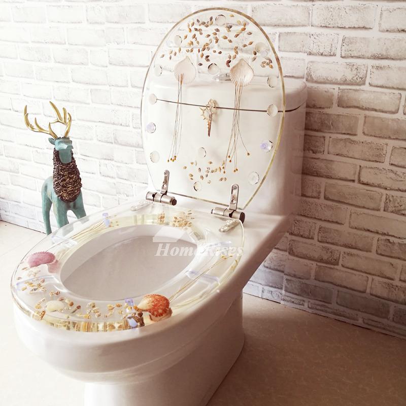 3d Shelves Wallpaper Fancy Seashell Decorative Soft Close Oval Elongated Resin