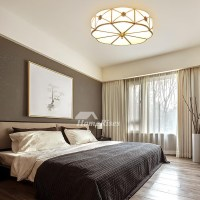 Bedroom Ceiling Lights Brass Glass Flush Mount Living Room ...