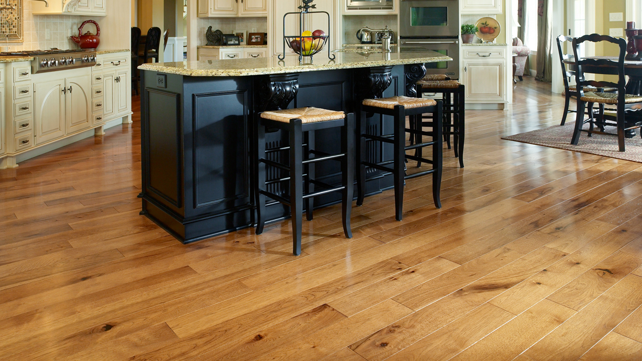 gallery kitchen wood floors HickorySaddle Kitchen