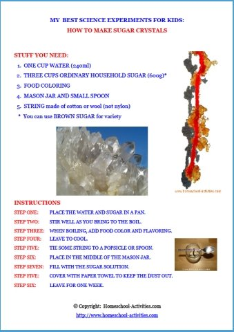 How to make sugar crystals pdf