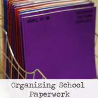 Organizing School Paperwork