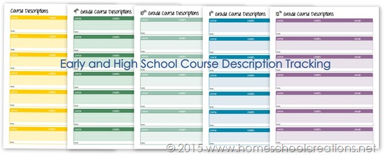 Middle and High School Planner Printables for Homeschool - school scheduling template