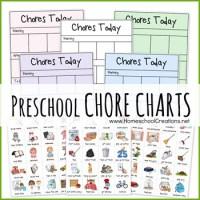FREE Preschool Chore Charts - Subscriber Freebie