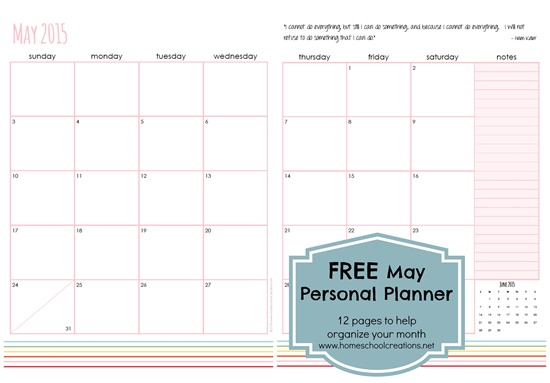 May Personal Planner Pages - FREE Printable
