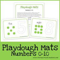Number Playdough Mats ~ Free Printables!!
