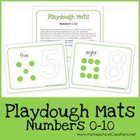 Number Playdough Mats ~ Free Printables!!