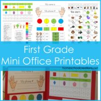 First Grade Mini Office Printables