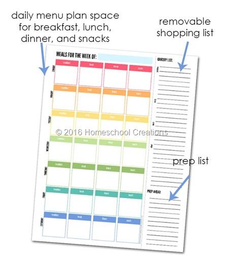 Weekly Meal Planner - Plan a Week\u0027s Meals (FREE Printable)