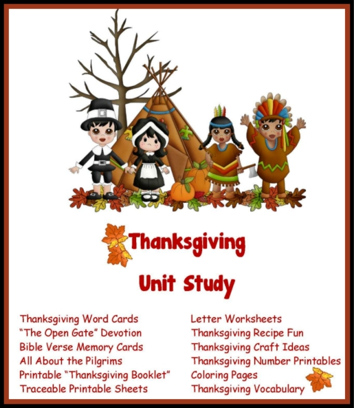 Thanksgiving Recipes - From Homeschooled Kids Online