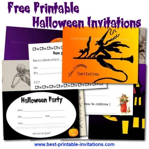 40th Birthday Ideas Free Halloween Birthday Invitation Templates