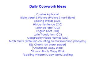 copyworkideas