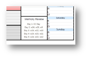 parent planner memory review square