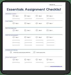 essentials checklist picture