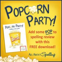 Popcorn + Spelling = FREE