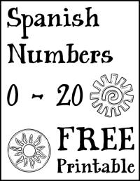 Number Names Worksheets  Spanish Printable - Free ...