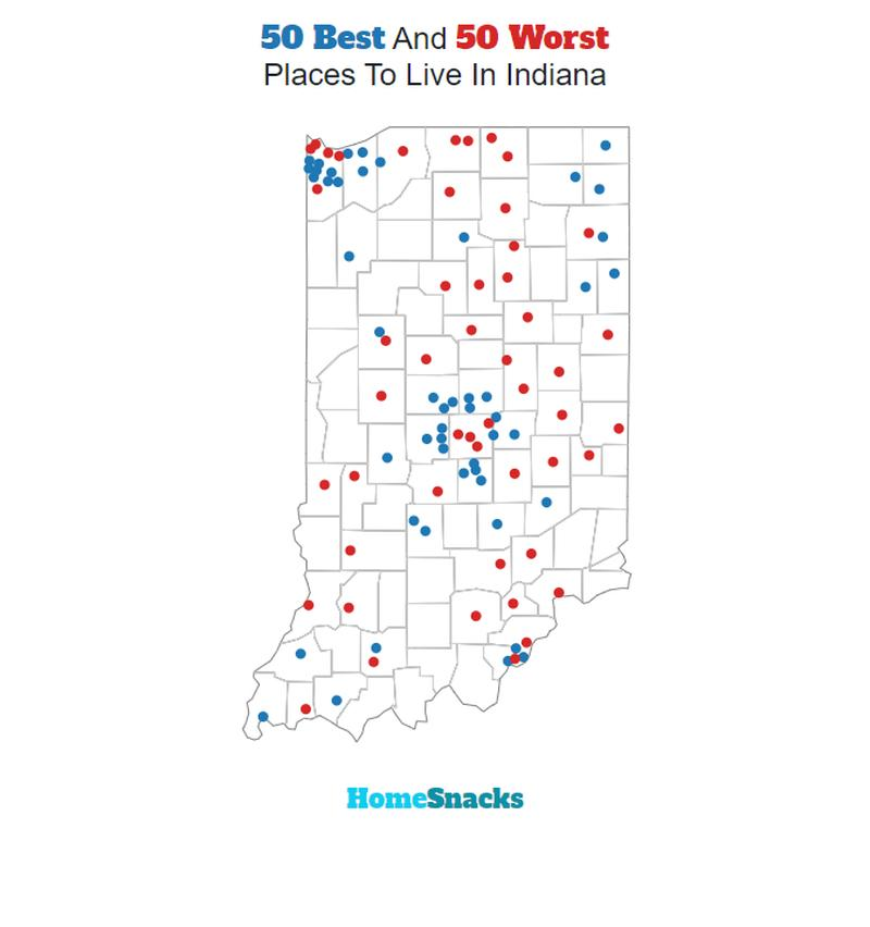 These Are The 10 Best Places To Live In Indiana For 2018 - HomeSnacks