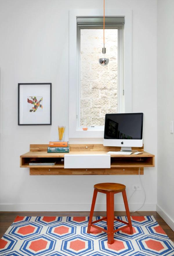 homestilo pinterest | home office with floating shelf