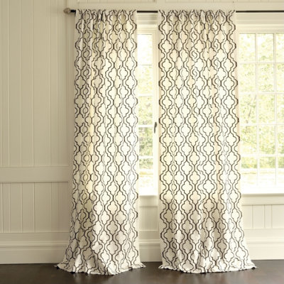 Royal design studio stenciled curtains knock off ballard