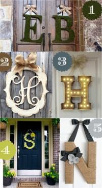 36 Creative Front Door Decor Ideas {not a wreath}