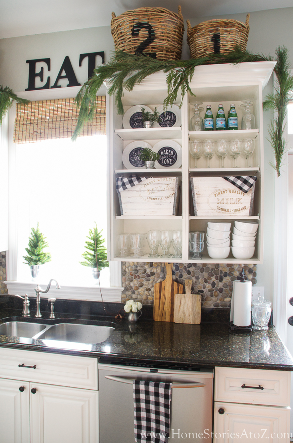 Christmas Kitchen Decorating - Home Stories A to Z - christmas kitchen decor