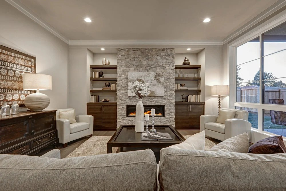 100+ Living Rooms with Table Lamps (Photo Gallery)