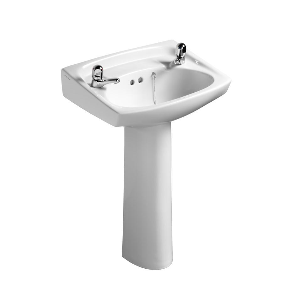 Armitage shanks sandringham royalex 56cm pedestal basin two tapholes