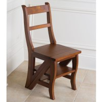 Hometech2u Wooden Step Ladder Dining Chair Library Step ...