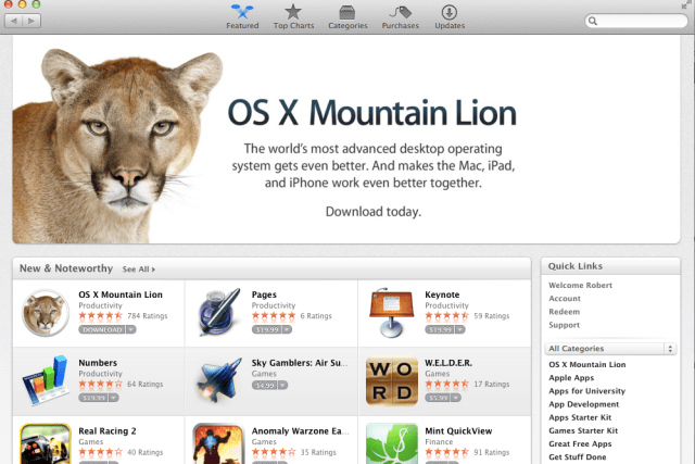 Mountain Lion Desktop