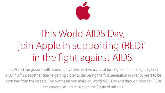 Apple Fights Aids