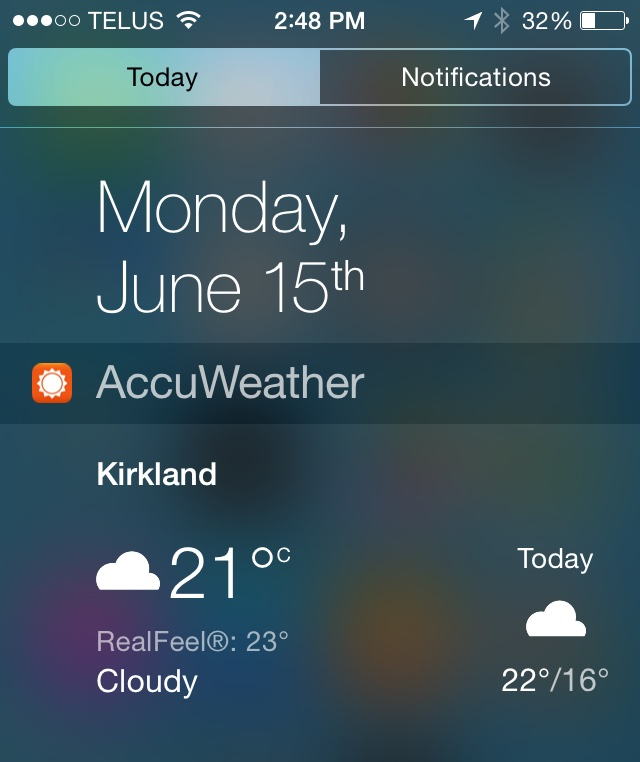 Accuweather Widget