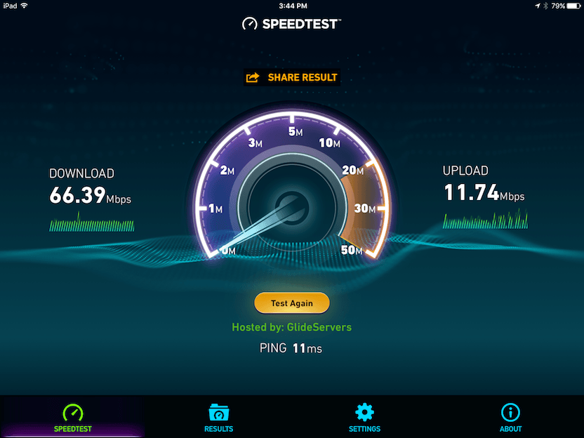 Linksys WRT1900ACS Spedtest