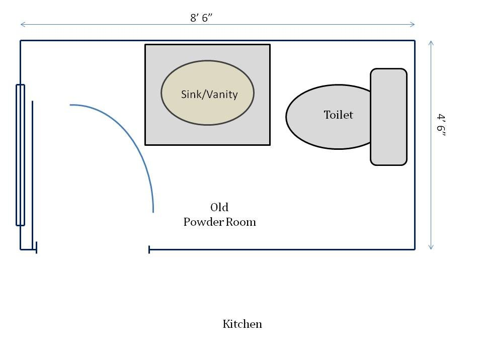 Powder Room Dimensions Images