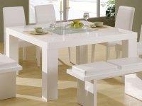 Elegant white dining tables