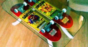 Skateboard coffee tables