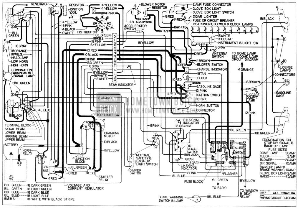 1957 Buick Wiring Diagram Wiring Schematic Diagram