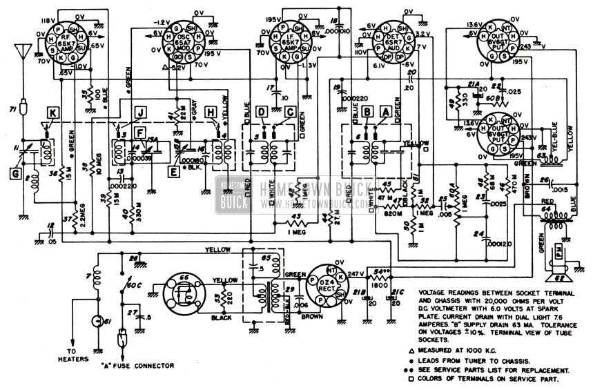 wiring schematic for 1955 chevy post