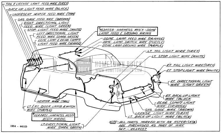 1954 Buick Wiring Diagrams - Hometown Buick